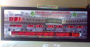 Harga Jam Digital Masjid di Jakarta