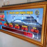 Distributor Murah Jam Masjid Running Text dan Harganya di Jakarta